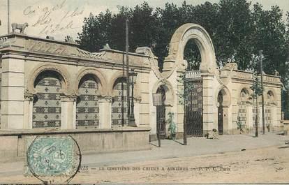 """/ CPA FRANCE 92 """"Le cimetière des chiens à Asnières"""""""