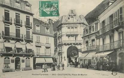 """/ CPA FRANCE 65 """"Cauterets, place Saint Martin"""""""