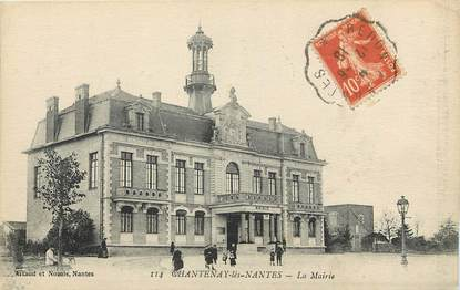 """CPA FRANCE 44 """"Chantenay lès Nantes, La Mairie"""""""