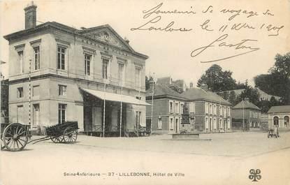 """/ CPA FRANCE 76 """"Lillebonne, hôtel de ville"""""""