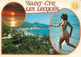 """83 Var CPSM FRANCE 83 """" St Cyr Sur Mer - Les Lecques, Vues"""" / NU"""