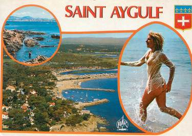 """CPSM FRANCE 83 """" St Aygulf, Vues"""" / NU"""