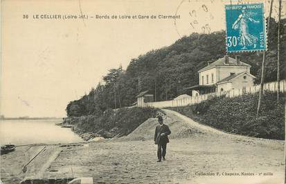 "CPA FRANCE 44 ""Le Cellier, Bords de la Loire et Gare de Clermont"""