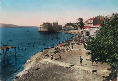 """CPSM FRANCE 83 """" Toulon, Le Mourillon, la Plage du Lido et le Fort St Louis"""""""