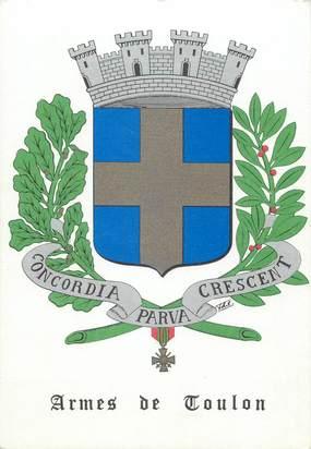 """CPSM FRANCE 83 """" Toulon, Armes de Toulons"""""""