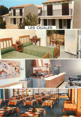 """CPSM FRANCE 83 """" Six Fours les Plages, Village de vacances Les Cigales"""""""