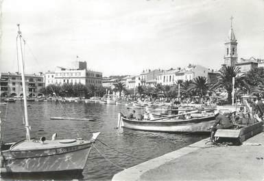 """CPSM FRANCE 83 """" Sanary sur Mer, Le port et la promenade"""""""