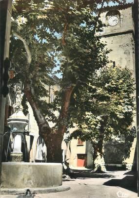 """CPSM FRANCE 83 """" La Roquebrussanne, Place de l'Horloge"""""""