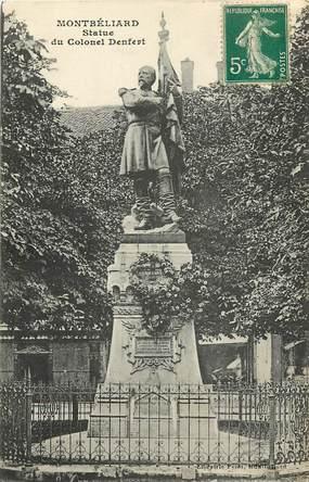 """CPA FRANCE 25 """"Montbéliard, statue du colonel Denfert"""""""