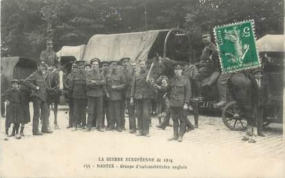 """CPA FRANCE 44 """" Nantes, Groupe d'automobilistes Anglais"""" / GUERRE DE 1914"""