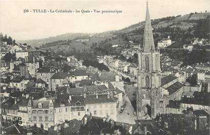 """/ CPA FRANCE 19 """"Tulle, la cathédrale, la quais"""""""