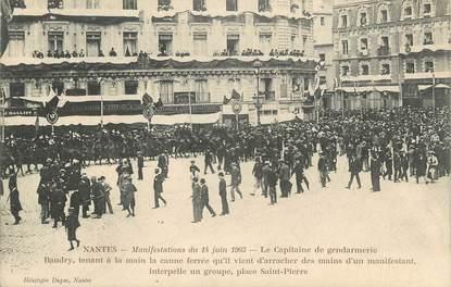 """CPA FRANCE 44 """" Nantes, Manifestations du 14 juin 1903, Le Capitaine de Gendarmerie"""""""