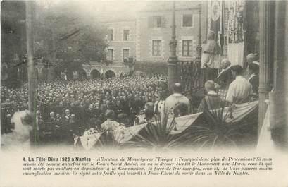 """CPA FRANCE 44 """" Nantes, La Fête Dieu en 1926, Allocutiion de Monseigneur l'Evêque"""""""