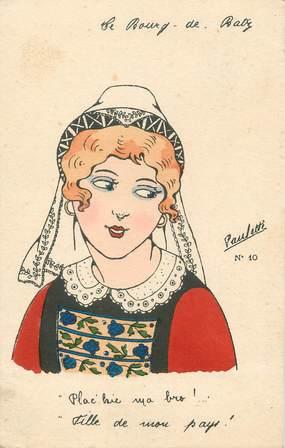 """CPA FRANCE 44 """"Le Bourg de Bas, Une jeune fille"""" / FOLKLORE"""