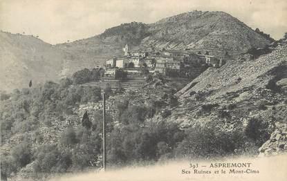 """CPA FRANCE 06 """" Aspremont, Les ruines et le Mont Cima"""""""
