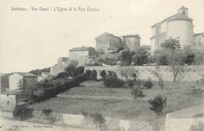 """CPA FRANCE 06 """" Auribeau, L'église et le parc Euzière"""""""