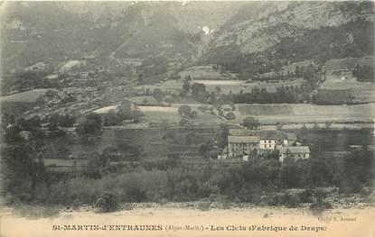 """CPA FRANCE 06 """" St Martin d'Entraunes, Fabrique de draps des Clets"""""""