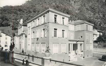 """CPSM FRANCE 06 """" Isola, La Mairie et l'école"""""""