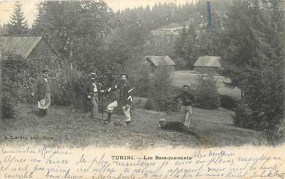 """CPA FRANCE 06 """" Turini, Les baraquements'"""