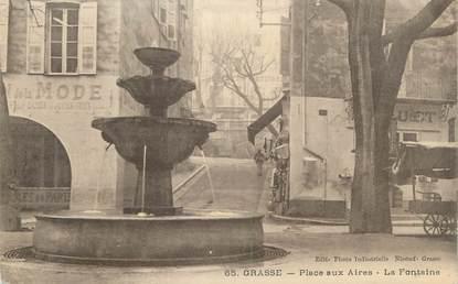 """CPA FRANCE 06 """" Grasse, La fontaine Place aux Aires"""""""