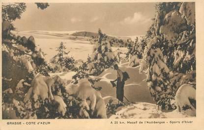 """CPA FRANCE 06 """" Le Massif de l'Audibergue en hiver"""""""