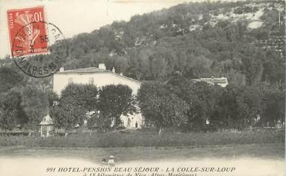 """CPA FRANCE 06 """" La Colle sur Loup, Hôtel Pension Beau Séjour"""""""