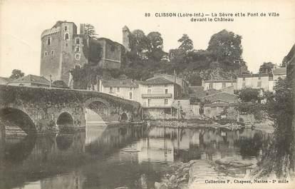 """CPA FRANCE 44 """"Clisson, la Sèvre et le pont de la ville"""""""