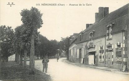 """/ CPA FRANCE 18 """"Nérondes, avenue de la gare"""""""