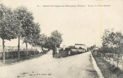 """CPA FRANCE 69 """" St Georges de Reneins, Route de Port Rivière"""""""