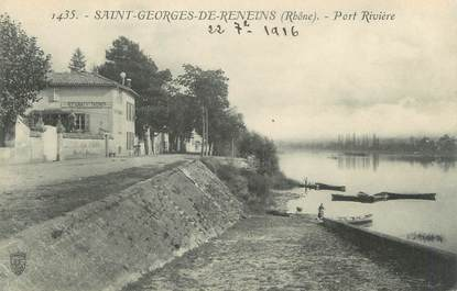 """CPA FRANCE 69 """" St Georges de Reneins, Port et rivière"""""""