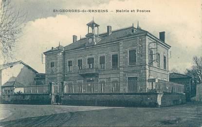 """CPA FRANCE 69 """" St Georges de Reneins, Mairie et Postes"""""""