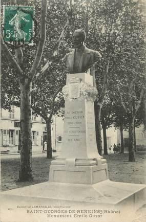 "CPA FRANCE 69 "" St Georges de Reneins, Monument Emile Guyot"""