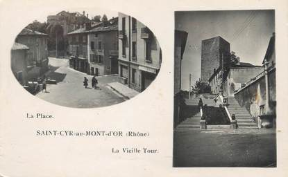 "CPSM FRANCE 69 "" St Cyr au Mont d'Or, La vieille tour"""