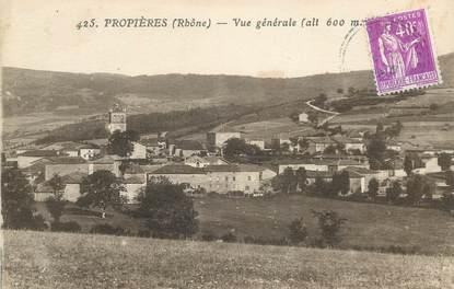 """CPA FRANCE 69 """" Proprières, Vue générale"""""""