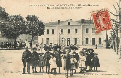Cpa france 69 villefranche sur saone place claude - Cours de cuisine villefranche sur saone ...