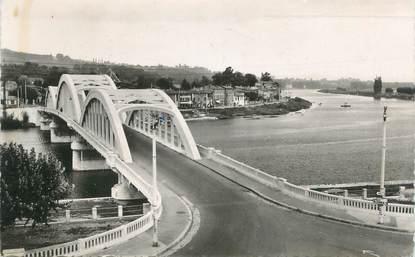 """CPSM FRANCE 69 """" Neuville sur Saône, Le pont sur la Saône"""""""