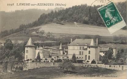 """CPA FRANCE 69 """" Lamure sur Azergues, Château de Pramenoux"""""""