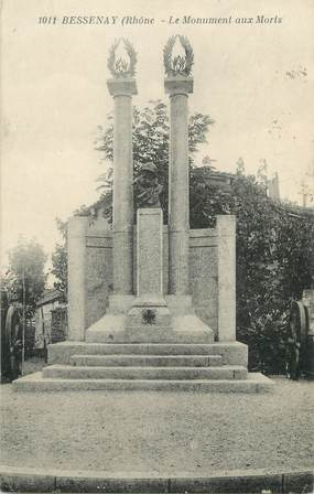 """CPA FRANCE 69 """" Bessenay, Le monument aux morts"""""""