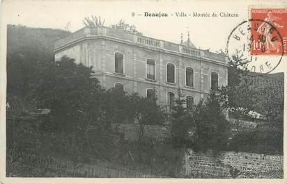 """CPA FRANCE 69 """" Beaujeu, Villa montée du château"""""""