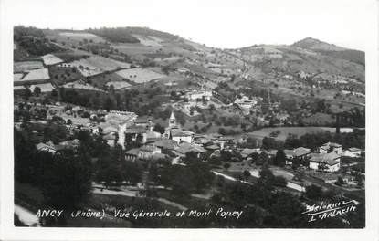 """CPSM FRANCE 69 """" Ancy, Vue générale et le Mont Popey"""""""