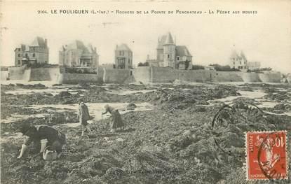 """CPA FRANCE 44 """"Le Pouliguen, La Pêche aux moules"""""""