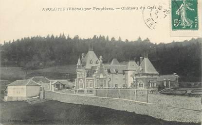 """CPA FRANCE 69 """" Azolette, Château de Crot"""""""