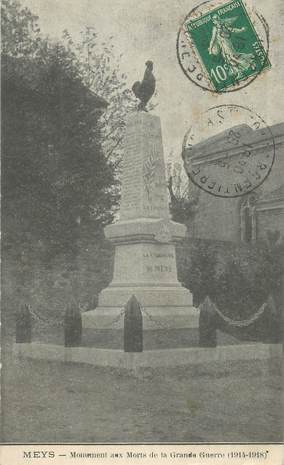 """CPA FRANCE 69 """" Meys, Monuments aux morts"""""""
