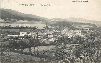 """CPA FRANCE 69 """" Ouroux, Vue générale"""""""