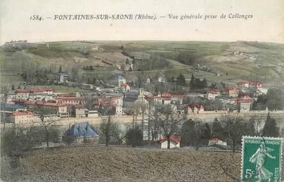 """CPA FRANCE 69 """" Fontaines sur Saône, Vue générale prise de Collonges"""""""