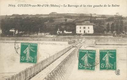"""CPA FRANCE 69 """"Couzon au Mont d'Or, Le barrage et la Rive Gauche de la Saône"""""""