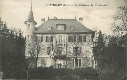 """CPA FRANCE 69 """" Chamelet, Le Château de Chalosset"""""""