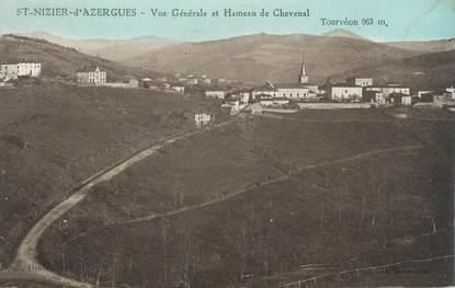"""CPA FRANCE 69 """" St Nizier d'Azergues, Vue générale et le Hameau de Chevenal"""""""