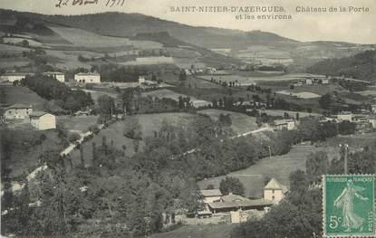 """CPA FRANCE 69 """" St Nizier d'Azergues, Château de la Porte et les environs"""""""