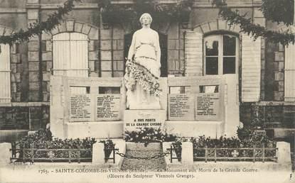 """CPA FRANCE 69 """" Ste Colombe les Vienne, Le monument aux morts"""""""